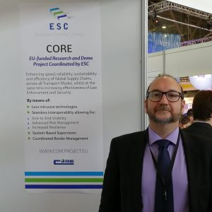 David Quesada and CORE at the ALICE booth, TRA2018