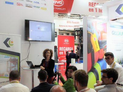 Annarita Leserri Presenting Harmony at SIL Barcelona.